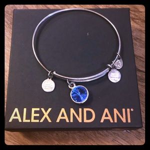 ALEX AND ANI Bracelet With Sapphire charm
